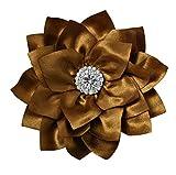 Silk Peony Flower Handcrafted Hair Clip Rhinestone Bridal Bridesmaid Flower Girl Hair Accessory