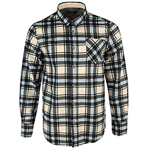 In Design Blue Quadri Uomo Ernst A Soul Top Brave Camicia Jackd Chambray Cotone Dettaglio BZ6vUwfqxn