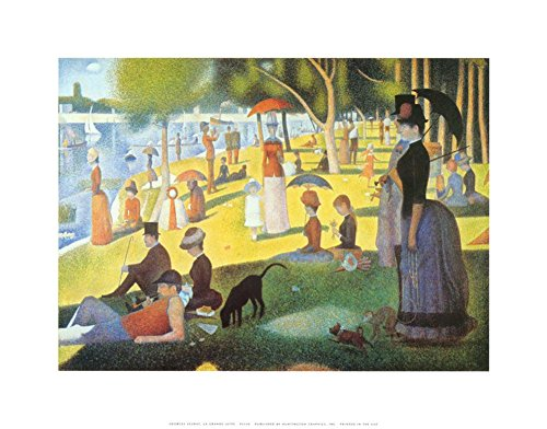 A Sunday on La Grande Jatte 1884, 1884-86 Art Print by Georges Seurat 14 x 11in with Poster Hanger