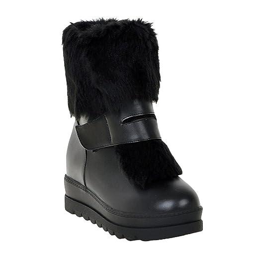 Women's Sexy Hidden High Heel platform Winter Ankle Boots