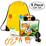 Adventure Kidz - Outdoor Exploration Kit, Children's Toy Binoculars, Flashlight, Compass, Whistle, Magnifying Glass, Backpack. Great Kids Gift Set for Camping, Hiking, Educational and Pretend Play