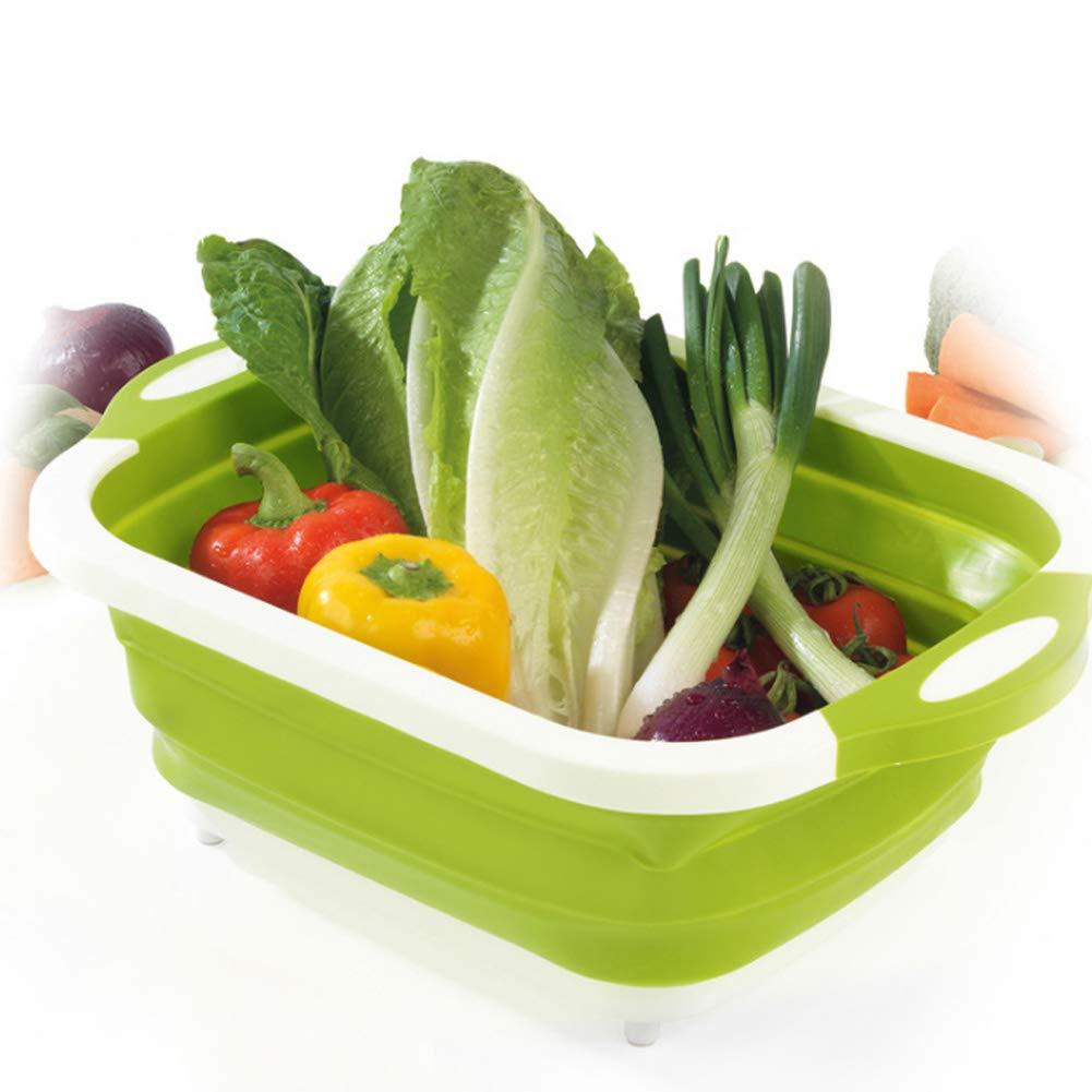 Henreal 4 en 1 Tabla de Baloncesto Plegable multifunci/ón para Kitchen Fruit Vegetable