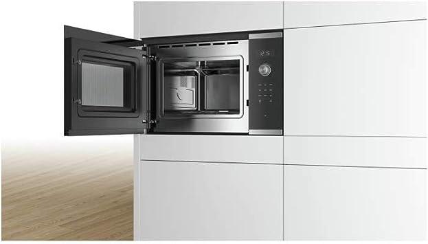 Bosch Serie 6 BFL554MS0 Integrado Solo - Microondas (Integrado, Solo microondas, 25 L, 900 W, Giratorio, Tocar, Negro, Acero inoxidable): Amazon.es: Hogar