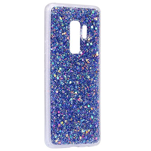 plus Sottile Copertura Silicone Eye in Silicone TPU Silicone Case Ultra Galaxy S9 plus Strass Gel Bling Galaxy Bling Flexible blu Glitter MoreChioce Sequins Transparent Cover S9 catching Custodia Morbida xYUBqnF