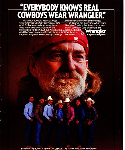 Willie Nelson Vintage ad original 1pg 8x10 clipping magazine photo #S1611