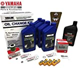 YAMAHA 2006+ F150 F150B Outboard Oil Change 10W30 FC 4M Lower Unit Gear Lube Drain Fill Gaskets NGK Spark Plugs LFR5A-11 Primary Fuel Filter Maintenance Kit