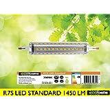 ECOBELLE® 1 x Ampoule LED R7S 12W 1450 Lumen (Ampoule R7s Haute Luminosité), Couleur Blanc Chaud 3000K, 118 mm x 25 mm, 360 Degrés