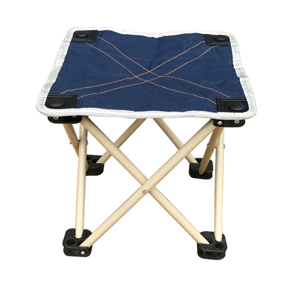 Folding chair Silla Plegable de Taburete, Silla de Pesca Multiusos, Silla Plegable Simple de Adulto/Oxford Bumazar (Color : Blue 2)