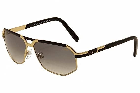 02870554fff Amazon.com  Cazal 9056 Sunglasses 001 Black   Gold   Grey Gradient ...