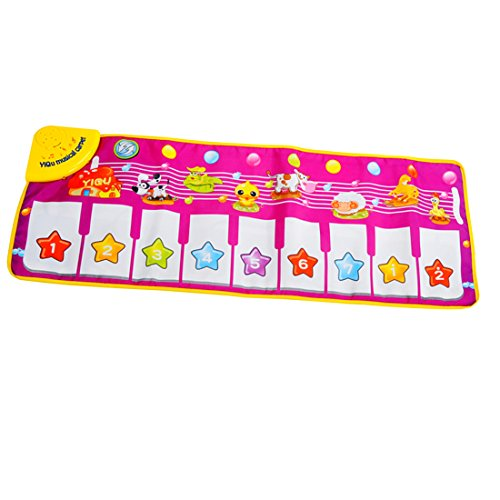 Baby Genius Step-To-Dance Junior Piano Mat, YIFAN Kids Touch Play Keyboard Musical Music Carpet Blanket Early Education Tool-Animal Pattern