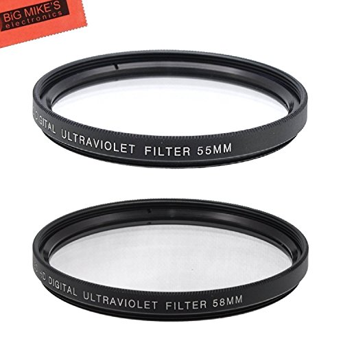 55mm and 58mm Multi-Coated UV Protective Filter for Nikon D3500, D5600, D3400 DSLR Camera with Nikon 18-55mm f/3.5-5.6G VR AF-P DX and Nikon 70-300mm f/4.5-6.3G ED