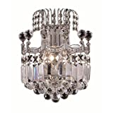 Elegant Lighting 8949W12C/RC Corona 12-Inch High 2-Light Wall Sconce, Chrome Finish with Crystal (Clear) Royal Cut RC Crystal Review