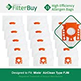 15 FilterBuy Miele FJM Compatible Vacuum Bags, Miele Part #...