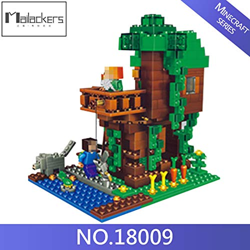 Best choise product Magic 406pcs Minecraft Classic Tree House Model Figures Building Blocks Bricks Kids Educational Toys for Kids Gifts