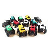 Boley Monster Pullback Trucks Mini 12 pack - Friction-Powered Pull Back Monster Jam Trucks and Cars