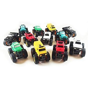 Boley Monster Pullback Trucks Mini 12 pack - Friction-Powered Pull Back Monster Jam Trucks and Cars