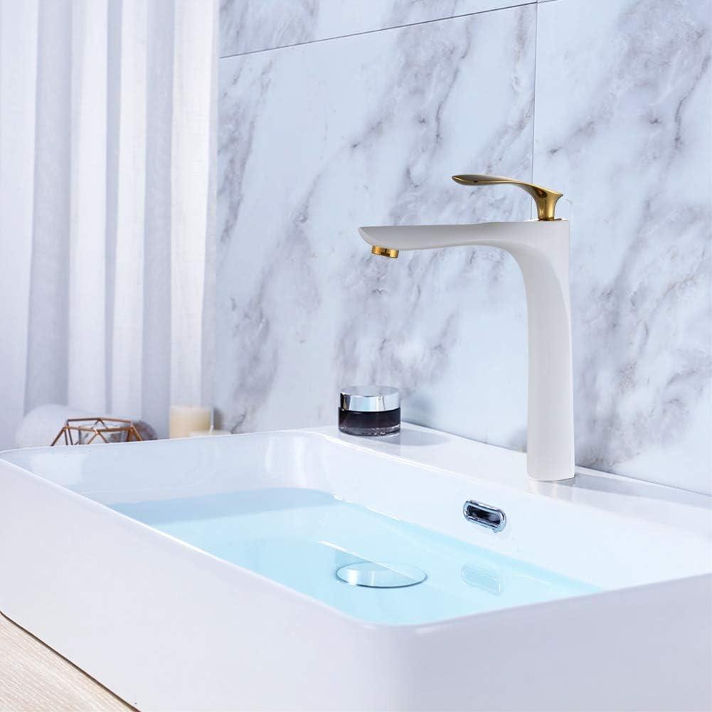 Bathroom Sink Tap MOCHUAN Basin Mixer Tap Solid Brass Bathroom Sink Washroom Basin Single Lever Cold and Hot Water Basin Tap Chrome