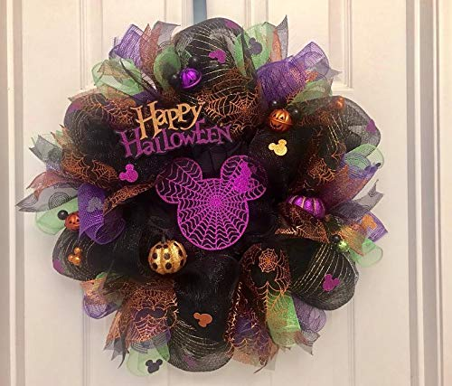 Mickey Halloween wreath, halloween wreath, mickey wreath, mickey halloween, Mickey Mouse wreath, disney halloween wreath, mickey wreath