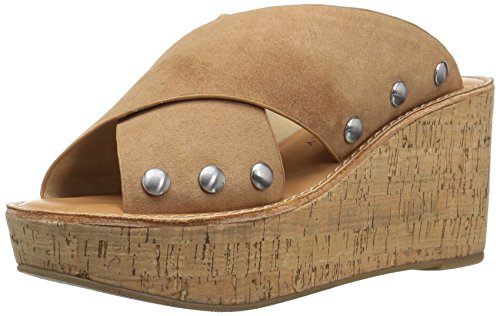 Chinese Laundry Women's OAHU Wedge Sandal, Camel Suede, 8 M US