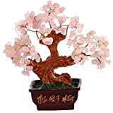 ARBRE TRADITIONNEL en QUARTZ ROSE - Feng Shui - Amour et Fortune