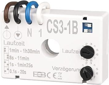 Trailing-relé CS3-1B Interruptor Temporizador para Extractor de baño: Amazon.es: Bricolaje y herramientas