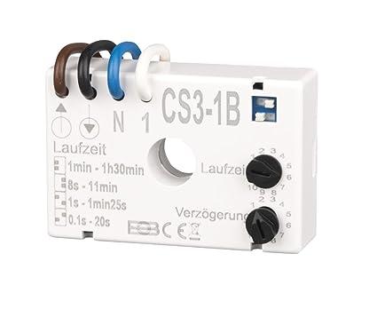Relativ Elektrobock CS3-1B Nachlaufrelais Unterputz: Amazon.de: Baumarkt AL65