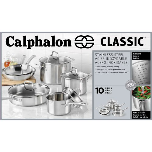 Calphalon Classic Stainless Steel Cookware Set, 10-Piece by Calphalon (Image #3)'