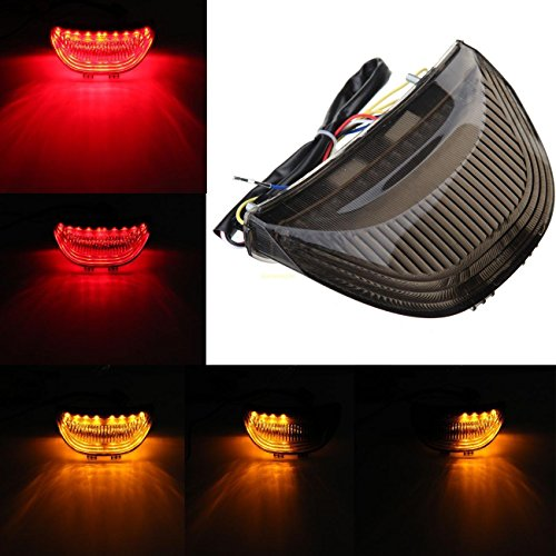 Sange 12V Led Tail Light Smoke Lens Integrated Turn Signals LED For 2003-2006 Honda CBR-600RR/2004-2007 CBR-1000RR