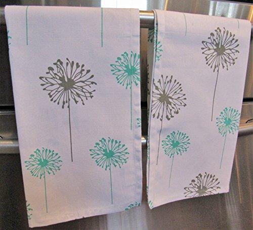Gray Dandelion Kitchen Dish Towels