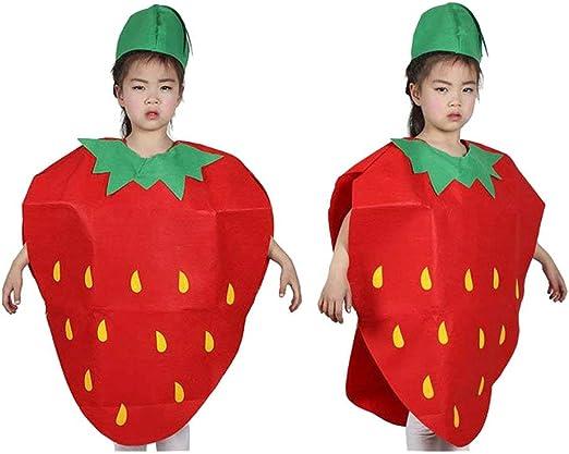 Huaheng Moda Unisex Infantil Disfraz Dibujos Fruta Vegetal Niños ...