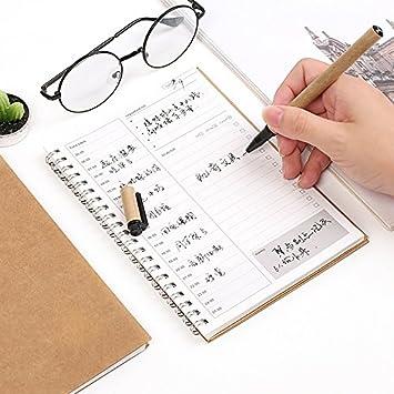 Monny - Cuaderno de papel kraft estilo vintage con agenda ...