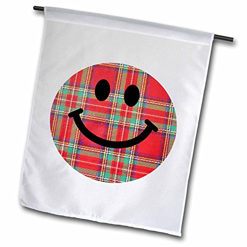 3d Rose 3dRose fl_113091_1 Scottish Tartan Smiley Face Re...