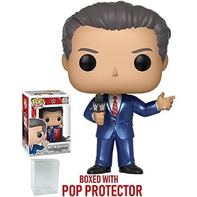 Funko Pop! WWE: Vince McMahon Vinyl Figure (Bundled with Pop Box Protector Case): Toys & Games