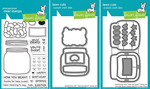 Lawn Fawn - How You Bean? - Clear Stamp & Dies Set - Include