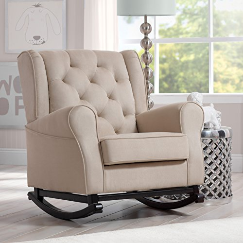 Delta Furniture Emma Upholstered Rocking Chair, Ecru by Delta Furniture (Image #1)