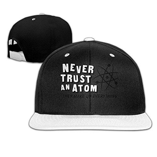MNCNNiun Never Trust An Atom, They Make Up Everything Scroll Contrast Adjustable Color, Hip-Hop Baseball Cap, Hat (Jester Makeup Ideas)