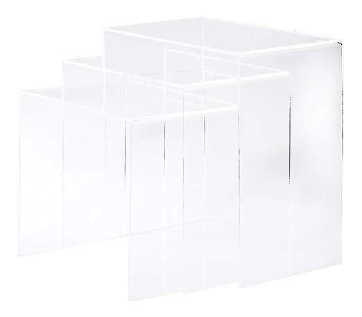 Homcom 02 0184 3er Set Beistelltisch Acryltisch Couchtisch Wohnzimmertisch Gebogener Tisch Neu Transparent Amazonde Kche Haushalt