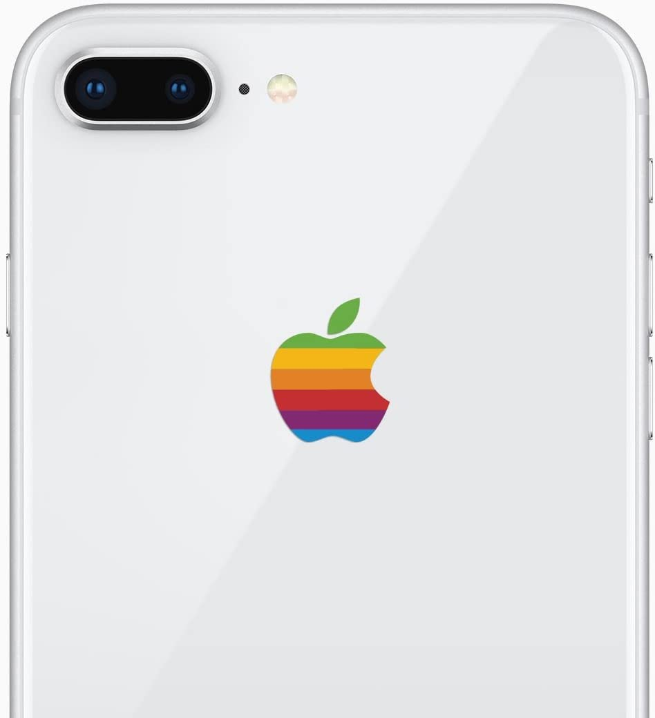 Retro Rainbow Apple iPhone 8 Plus Decal Sticker for The iPhone Xs Plus and iPhone Xs