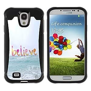 LASTONE PHONE CASE / Suave Silicona Caso Carcasa de Caucho Funda para Samsung Galaxy S4 I9500 / believe god sun sea beach summer text