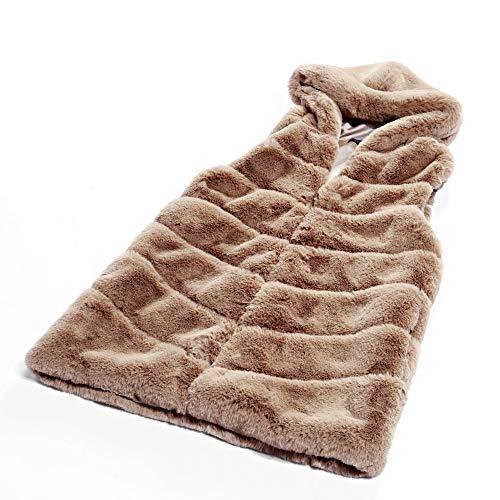 Adulto Faux Per 'soft Folobe Brown Gilet Womens Fur Vest qC0Ea