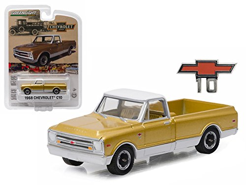 1968 Chevrolet C10 (1968 Chevrolet C-10 Anniversary Gold Chevy Trucks 50th Anniversary Collection 1/64 Model Car by)