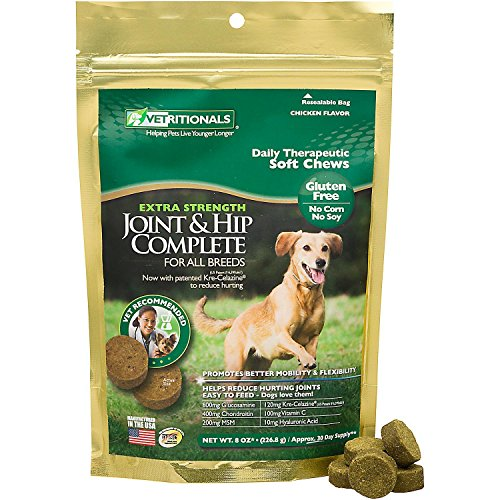 Vetritionals Joint & Hip Complete Daily Therapeutic Soft Dog Chews, 8 (Hip Joint Soft Chews)