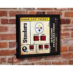 Team Sports America Philadelphia Eagles Bluetooth Scoreboard Wall Clock