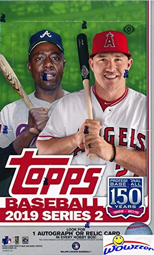 2019 Topps Series 2 MLB Baseball MASSIVE 24 Pack Factory Sealed HOBBY Box with 336 Cards & AUTO or RELIC Card! Look for RC & Autos of Vladimir Guerrero Jr, Pete Alonso, Fernando Tatis & More! WOWZZER 24 Pack Hobby Box
