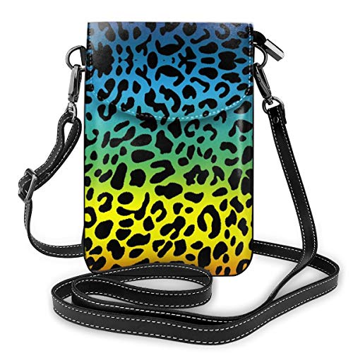 Unisex Small Printed Smartphone Wallet Purse PU Leather For Phone Cards Lipsticks Cash Colorful Leopard Skin Water Resistant With Multi-Compartments And Credit Cards Slots Flap Closed Snap Closure (0 Balance Transfer And Purchases Credit Cards)