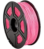 CC DIY PLA 3D Printer Filament Dimensional Accuracy +/- 0.02 mm 1kg Spool 1.75 mm Suits Most 3D Printers Tevo Tarantuala CR10 Mendel Prusa and More, Also Suitable for Most 3D pens (Pink)