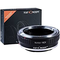 K&F Concept Lens Mount Adapter for Konica AR lens to Sony NEX E-Mount Camera Body, fits Sony NEX-3 NEX-3C NEX-5 NEX-5C NEX-5N NEX-5R NEX-6 NEX-7 NEX-VG10 etc