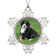 Moc Moc Large Christmas Tree Snowflake Ornaments Jumbo custom photo pet pin love your dog! Customized Christmas Snowflake Ornaments Christmas Tree Decors