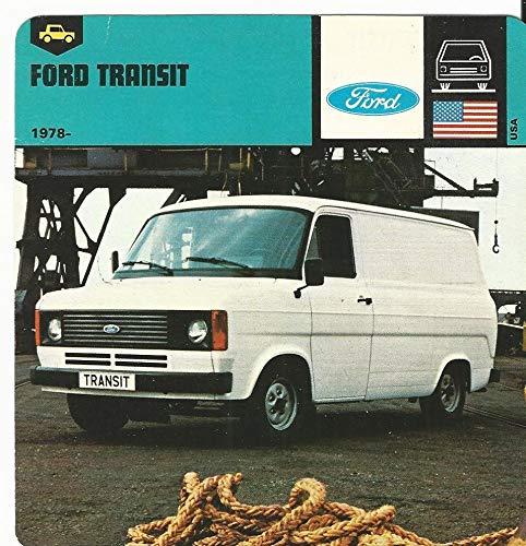 1978 Edito-Service, Automobile Rally Card, 25.05 Ford Transit ()