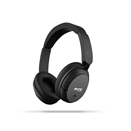 Auricular MTK Bluetooth con reducción de Ruido Activa,Auriculares circumaurales inalámbricos,18 Horas de